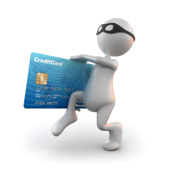 3d Humanoid Carrying a Credit Card
