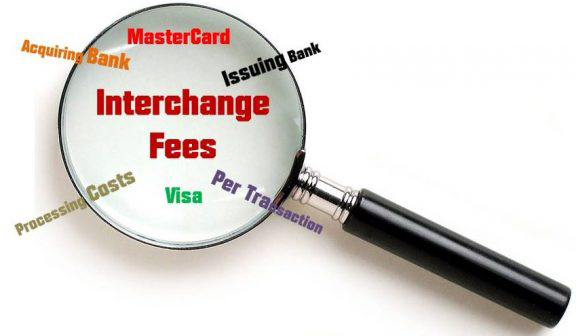 Magnifying Glass Highlights Interchange Fees