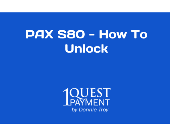 How to unlock the Pax S80