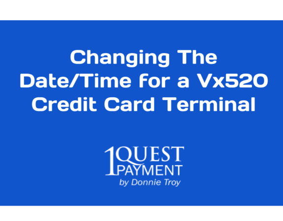 How to change the time and date on verifone vx520